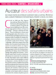 L'Express Article Au coeur des safaris urbains